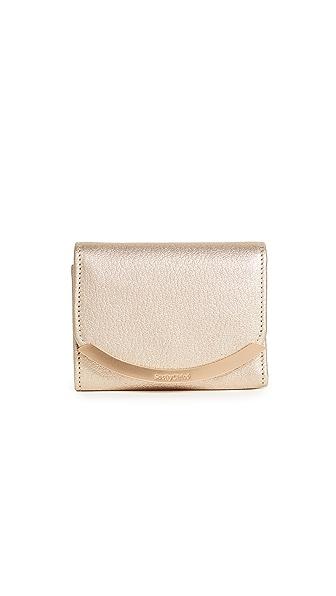 See by Chloe Lizzie Mini Wallet In Pearl Beige