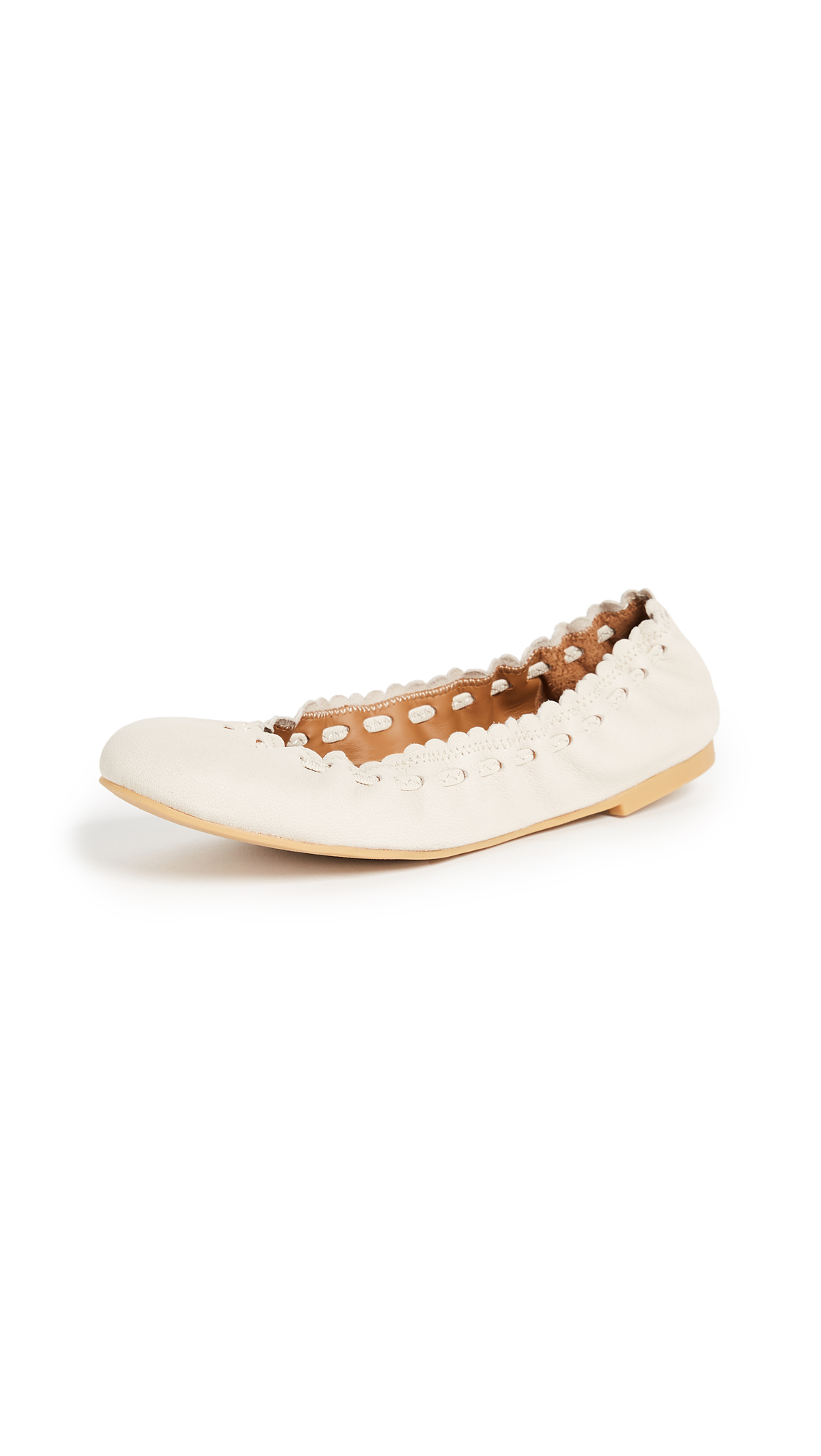 See by Chloe Jane Ballerina Flats - Gesso