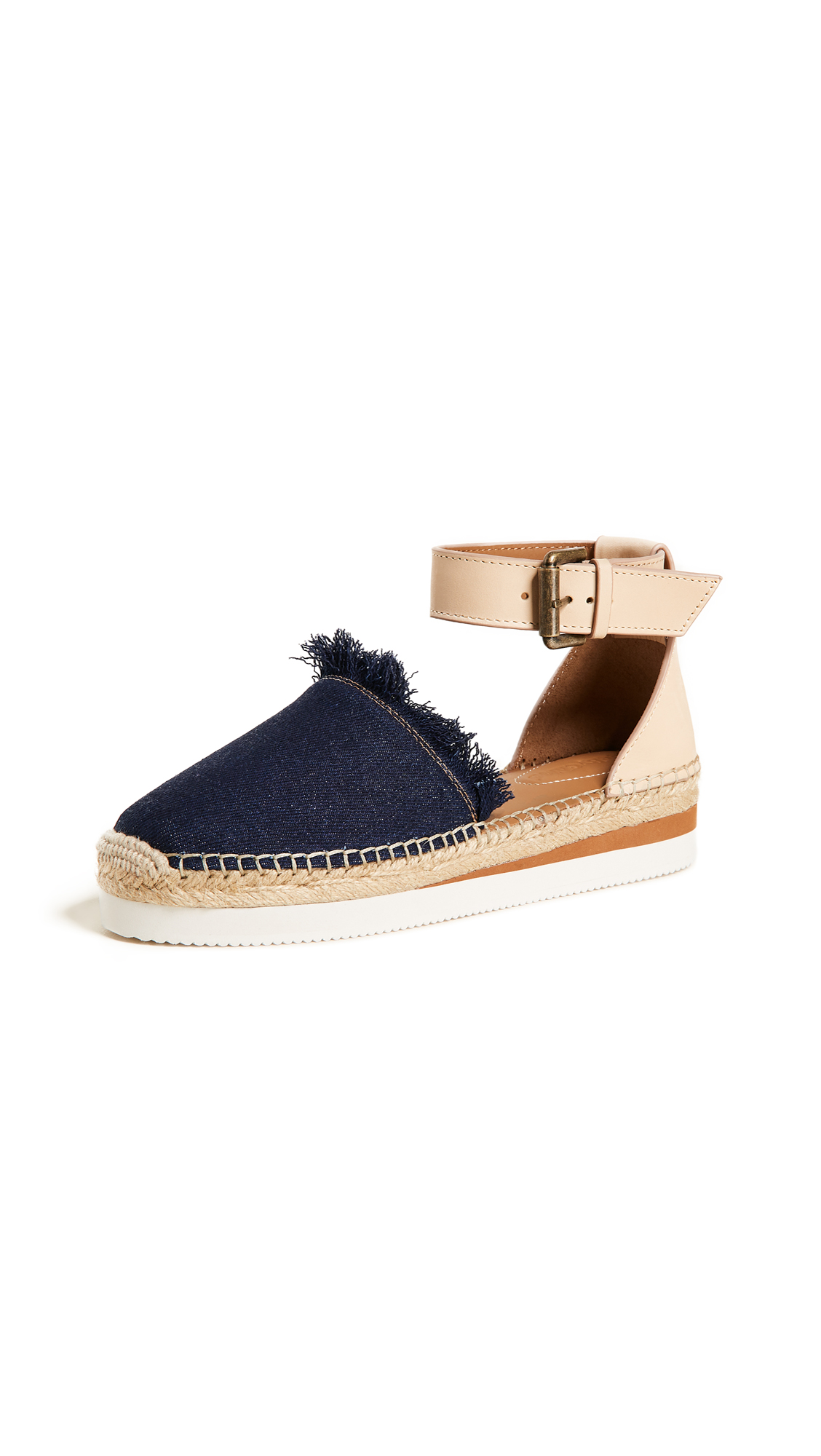 See by Chloe Glyn Flat Espadrilles In Denim