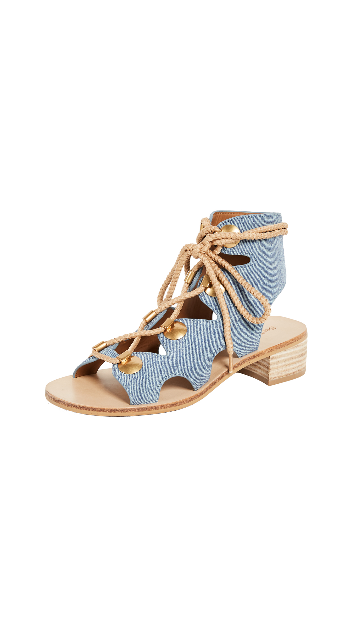 See by Chloe Alabama City Gladiator Sandals - Denim Chiaro