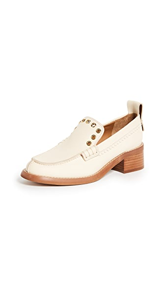 See by Chloe Nora Heeled Loafers In Burro