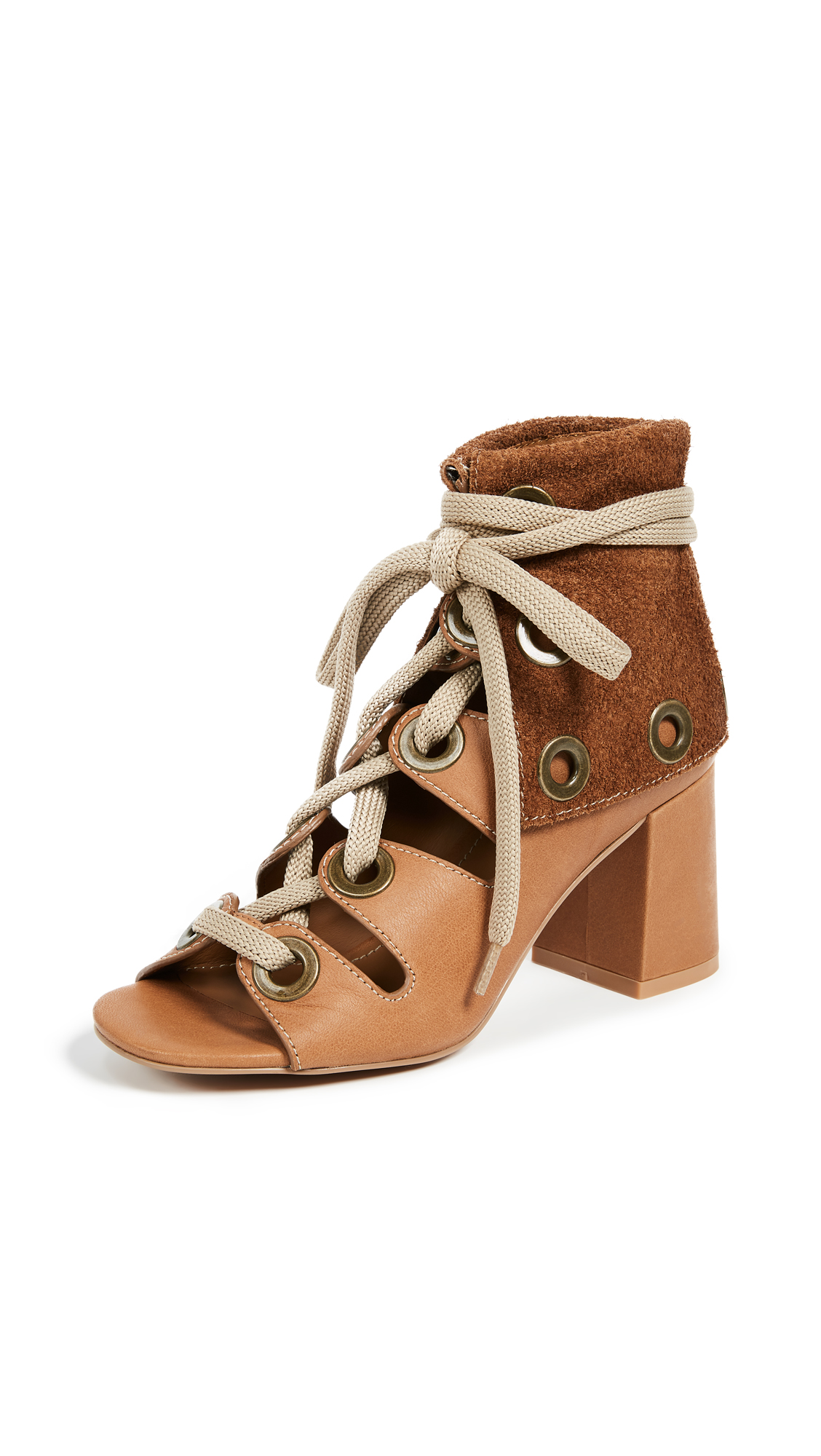 See by Chloe Selma Gladiator Sandals - Cuoio