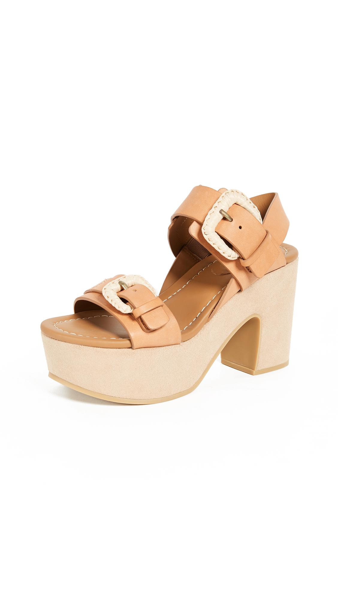 See by Chloe Rafia Platform Sandals - Natural