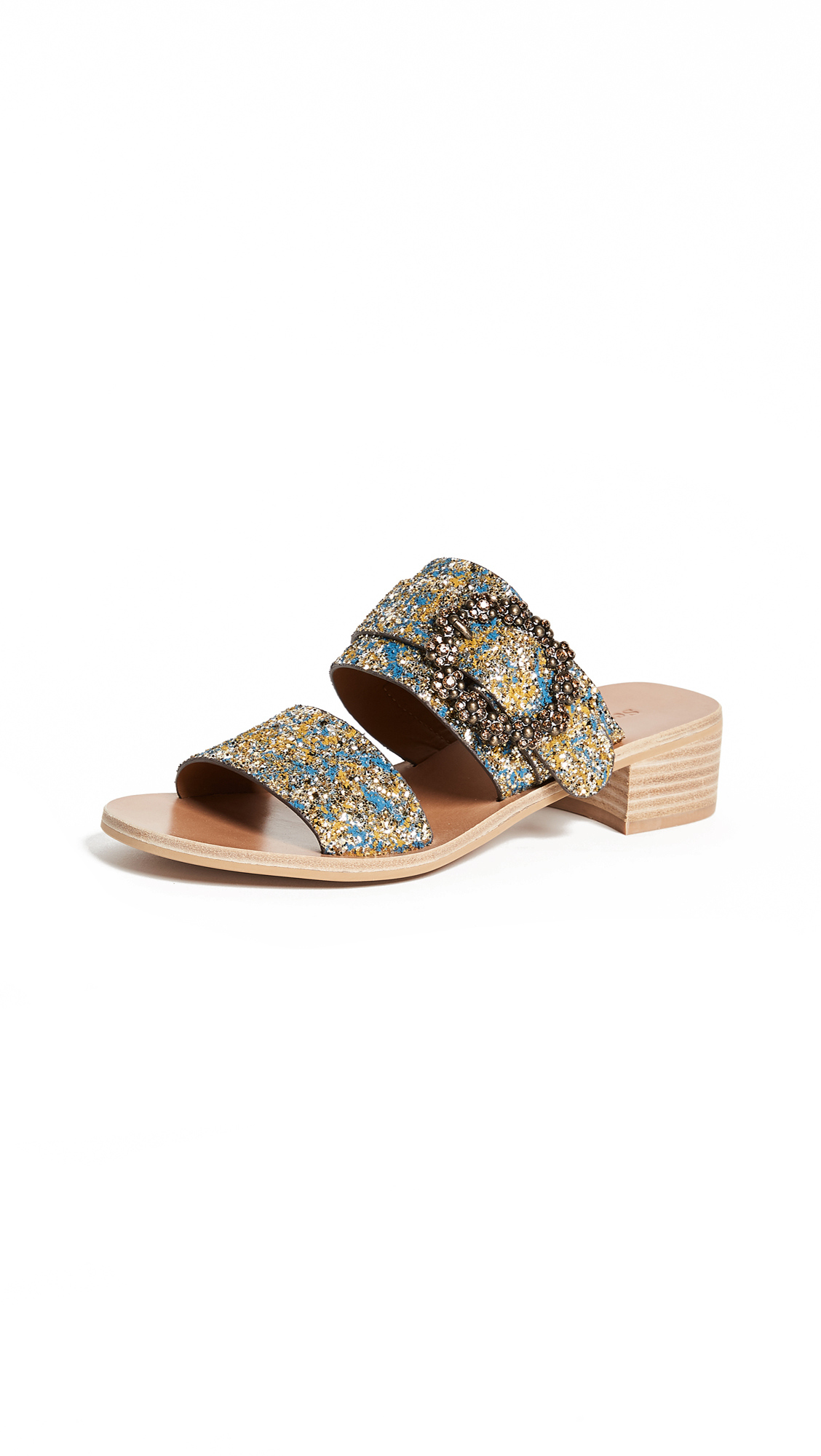 See by Chloe Rosie City Slides - Oro/Blu