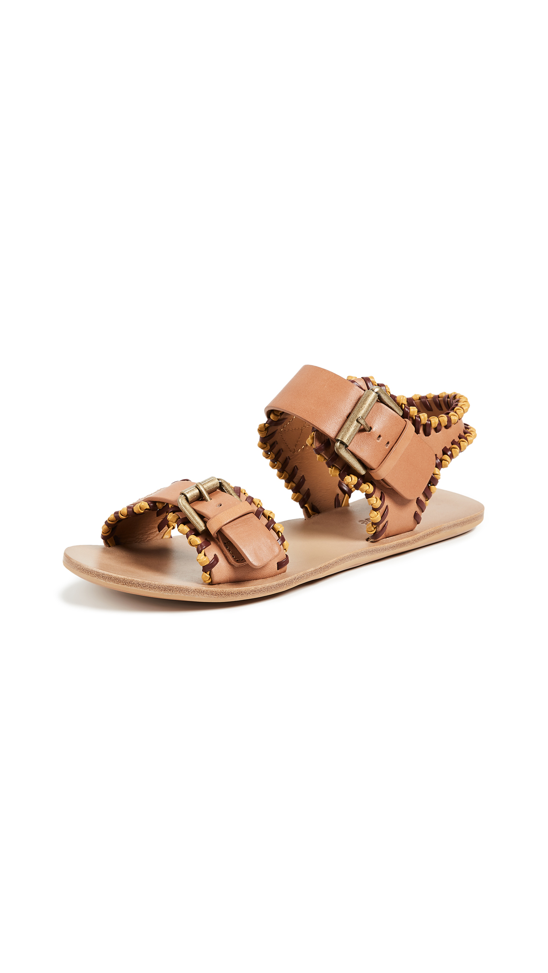 See by Chloe Romy Flat Sandals - Senape/Bordeaux