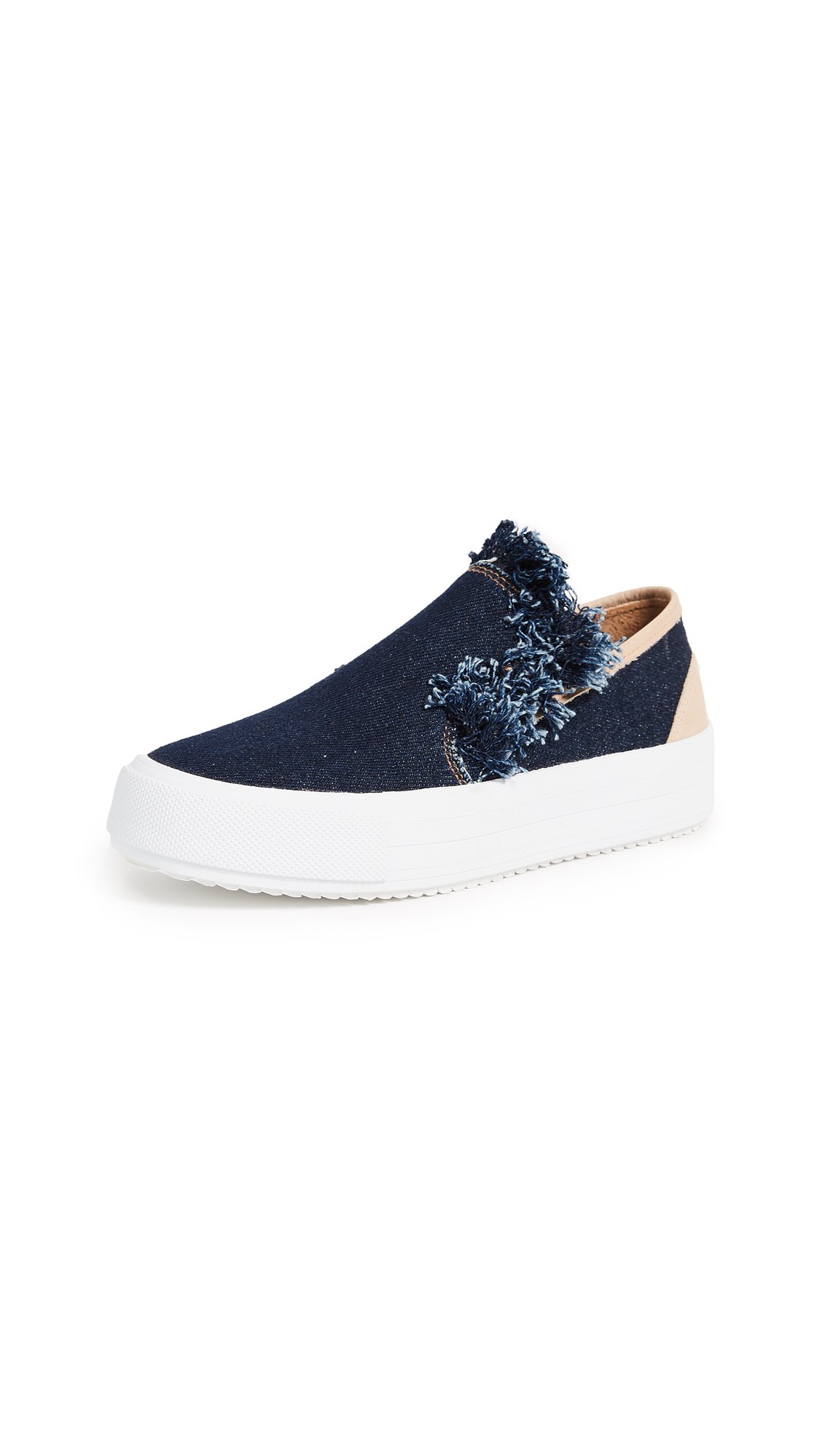 See by Chloe Vera Platform Slip On Sneakers - Denim