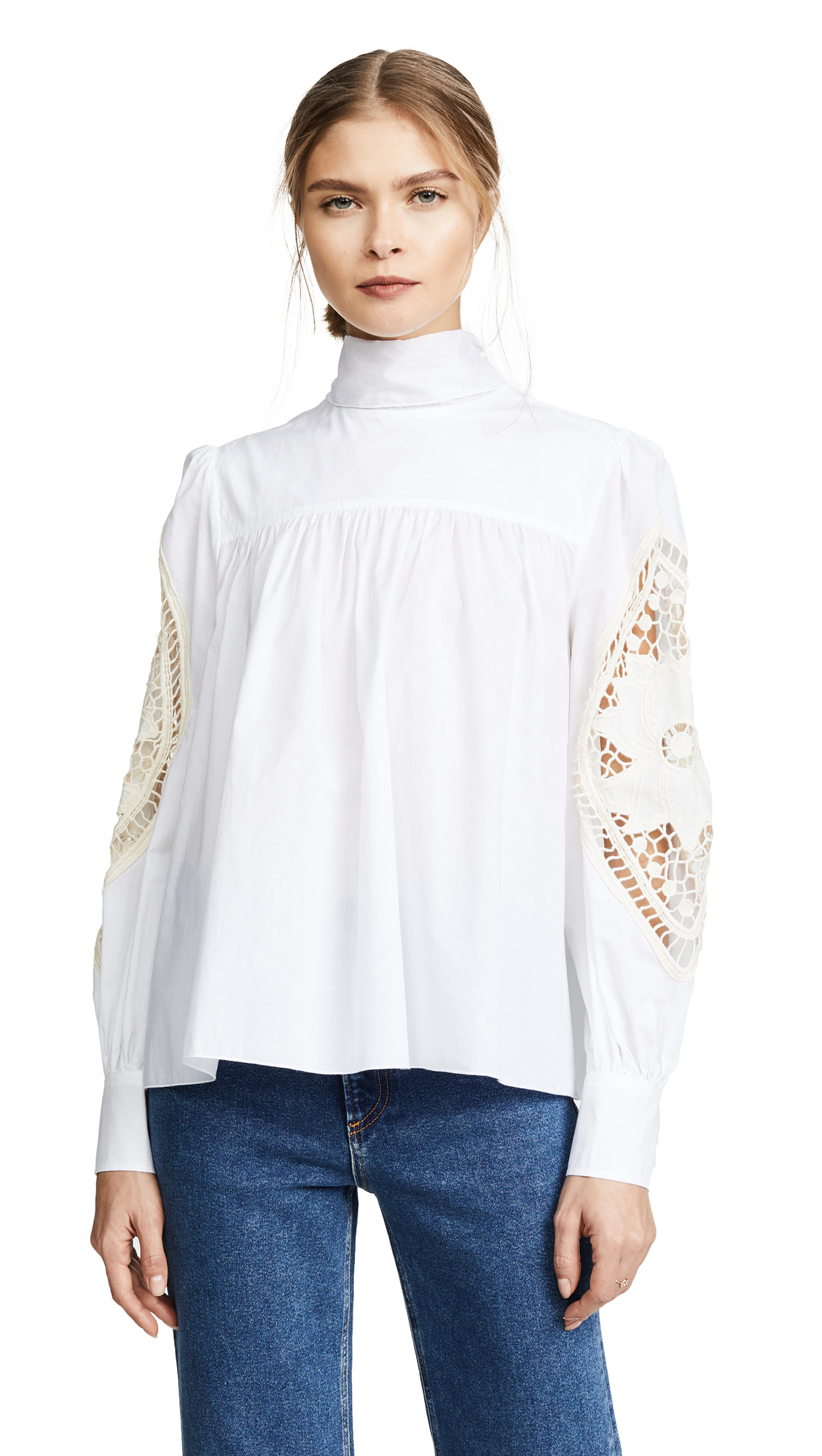 See By Chloé  EMBELLISHED BLOUSE