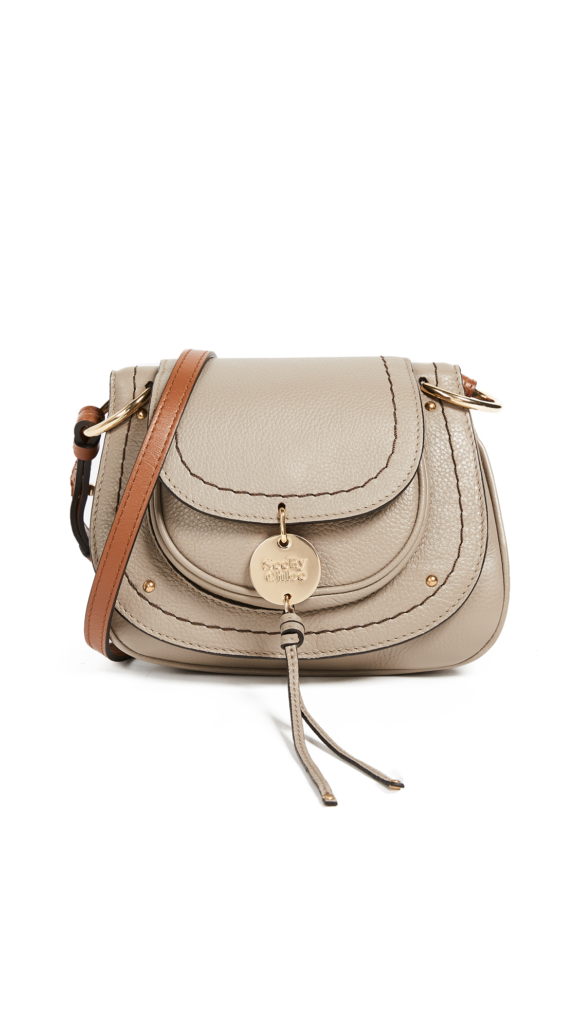 See by Chloe Susie Small Saddle Bag In Motty Grey