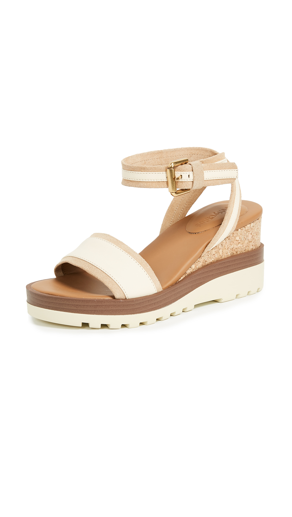 See by Chloe Robin Wedge Sandals - Burro