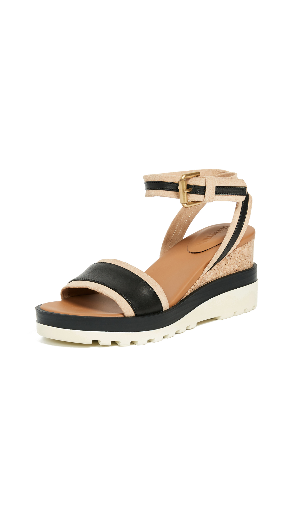 See by Chloe Robin Wedge Sandals - Nero