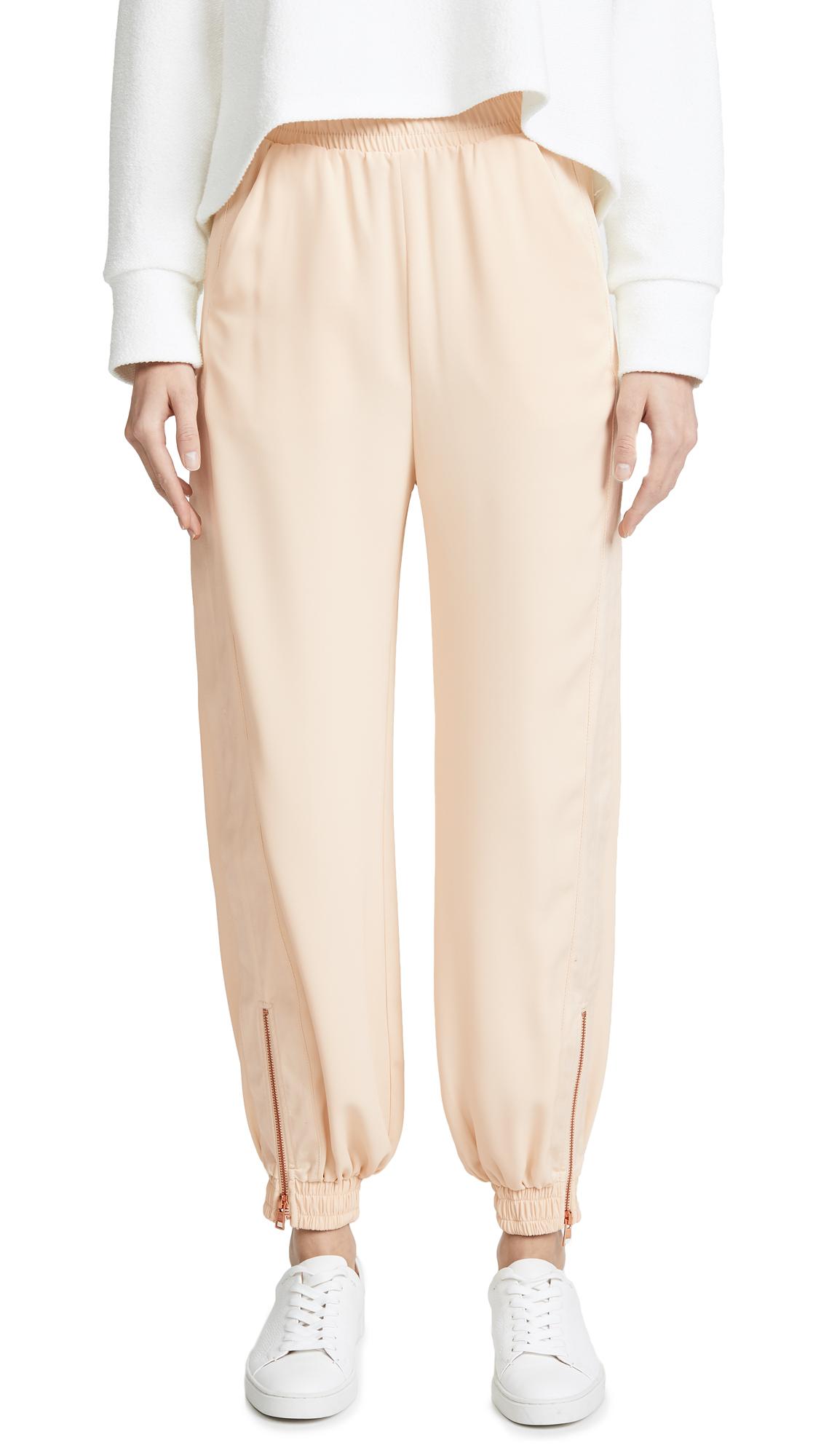 See by Chloe Zip Side Trousers In Angora Beige