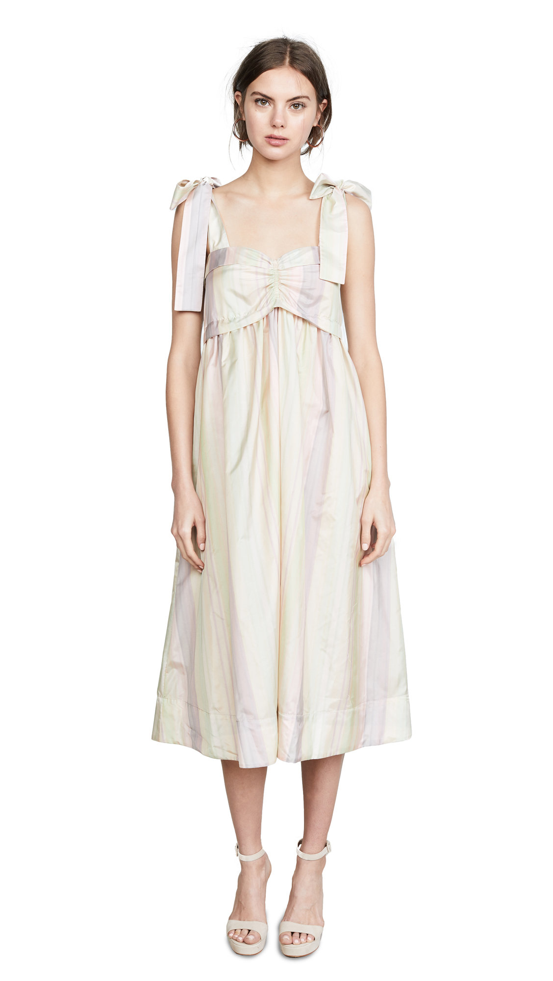 See by Chloe Tie Shoulder Dress In Multicolor