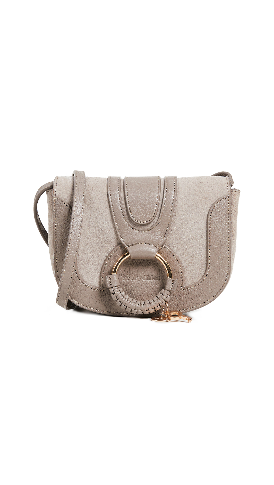 See by Chloe Hana Mini Saddle Bag In Motty Grey