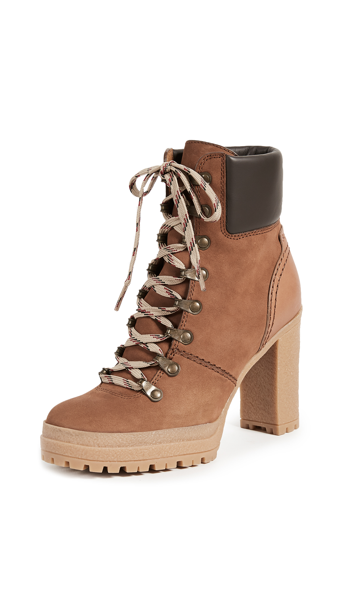 See by Chloe Eileen Lace Up Boots - Bruciato
