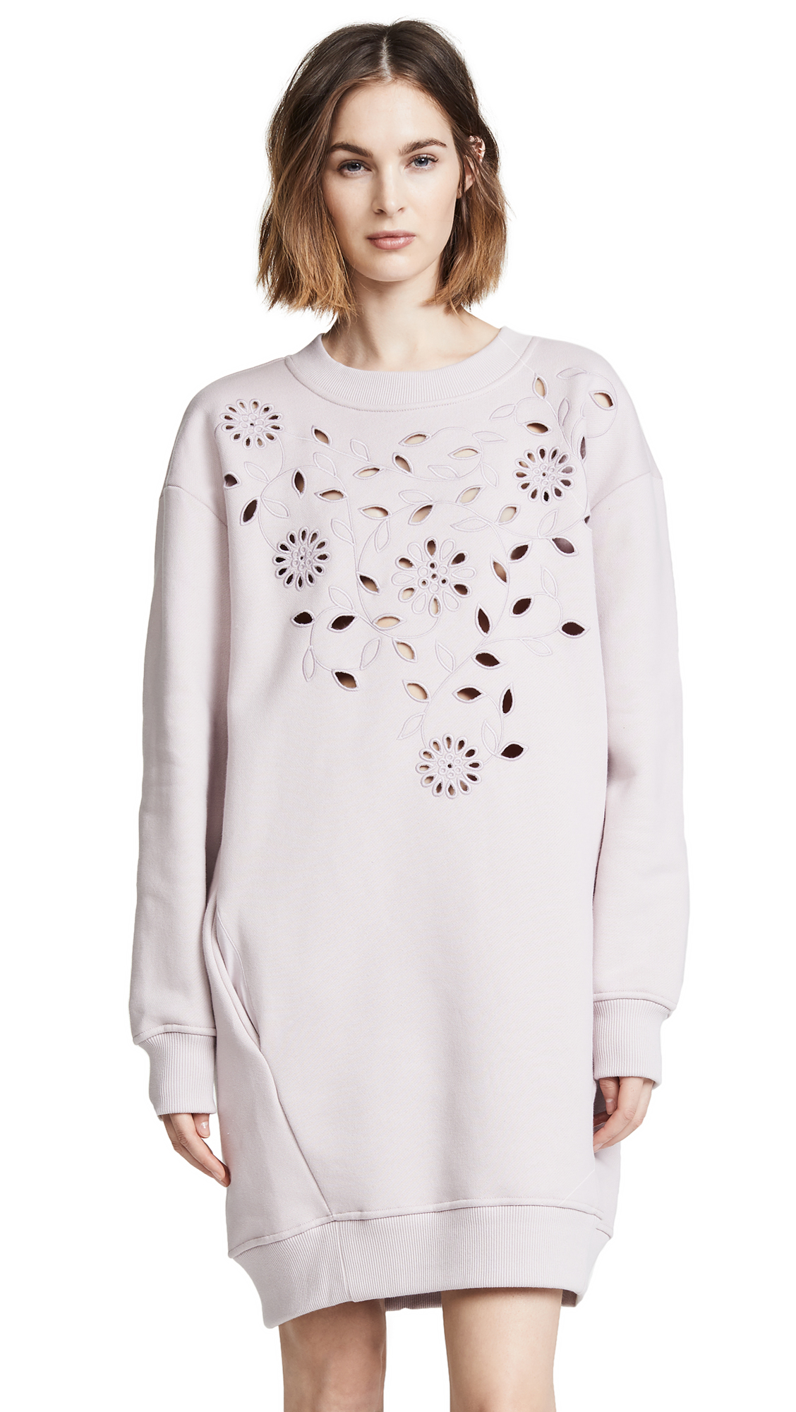 See by Chloe Sweatshirt Dress In Misty Lavender
