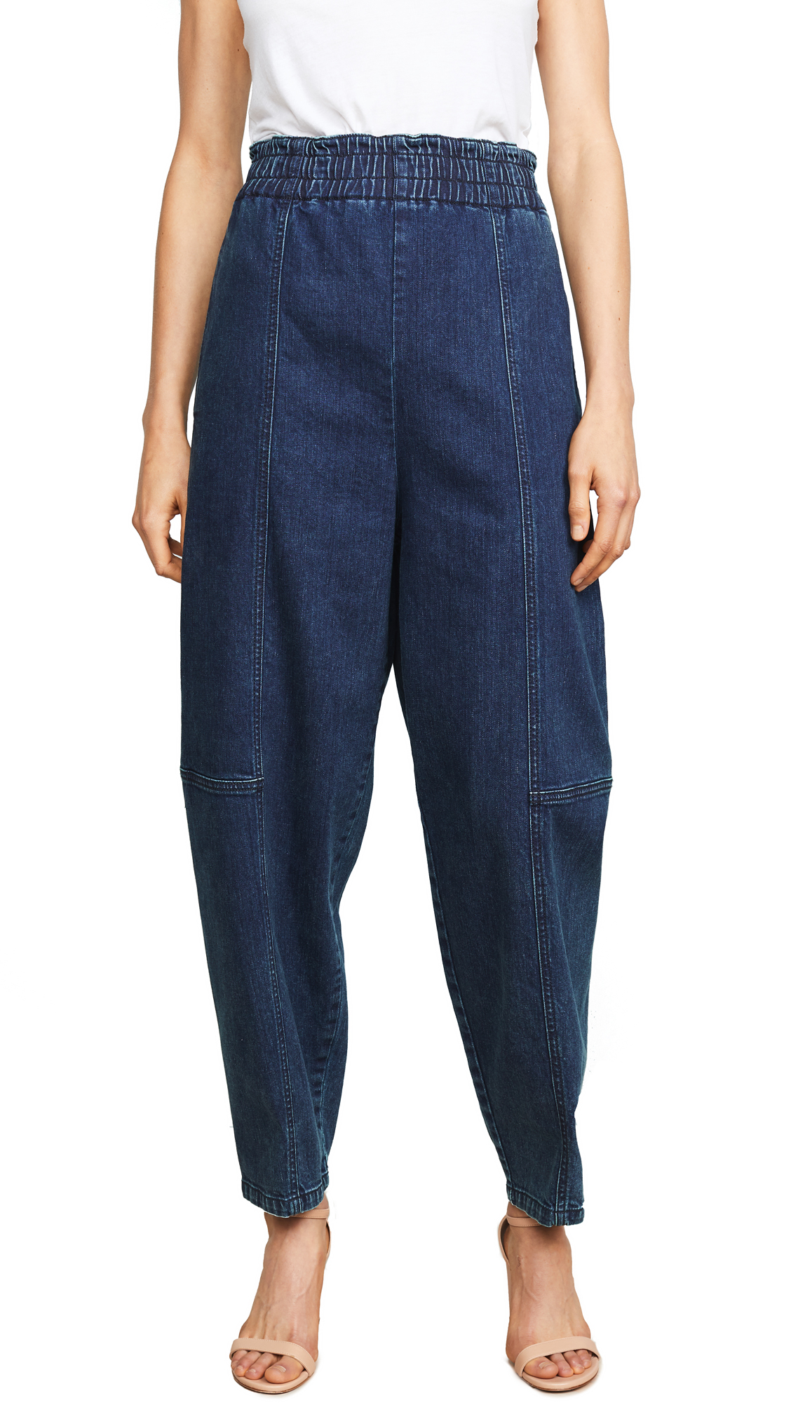 High Waisted Denim Pants, Obscure Navy
