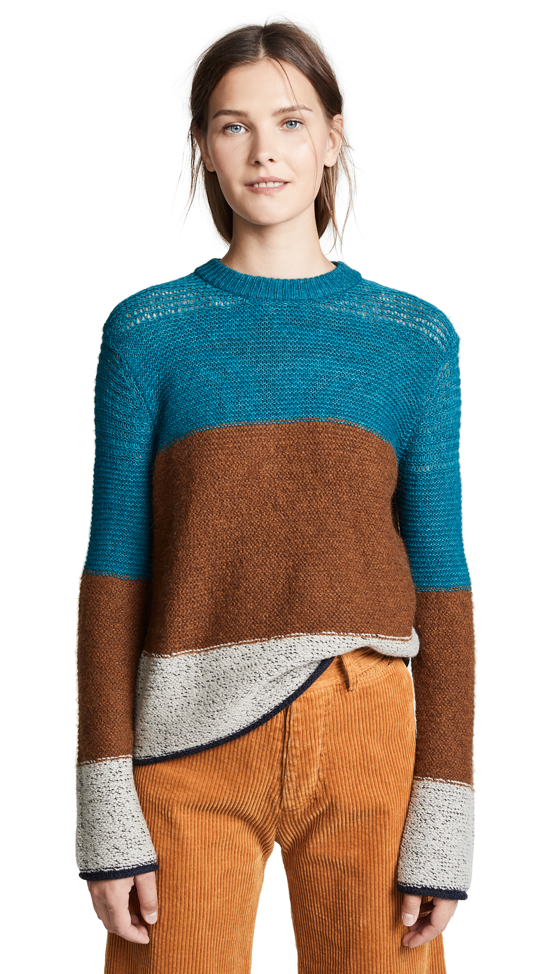 See by Chloe Block Stripe Sweater In Multicolor