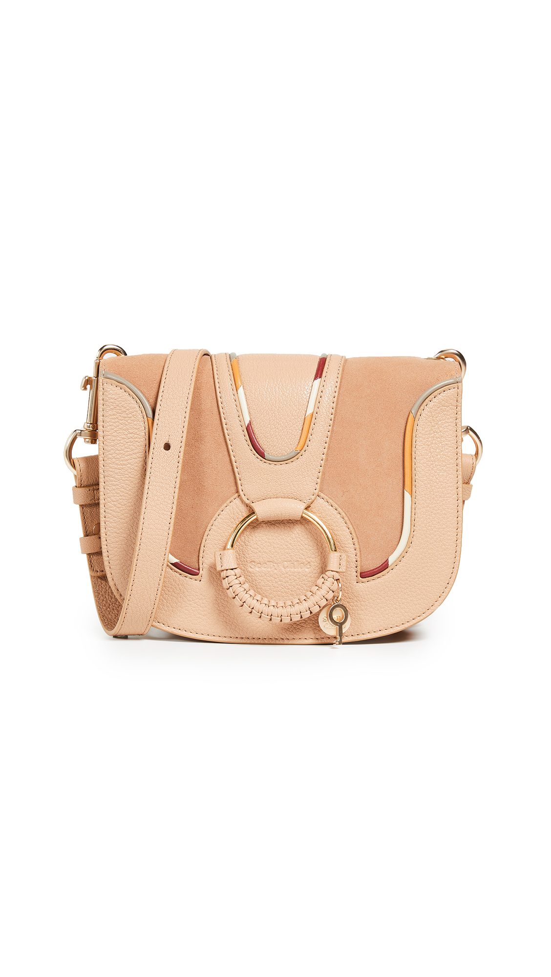 See by Chloe Hana Medium Saddle Bag In Blush Nude