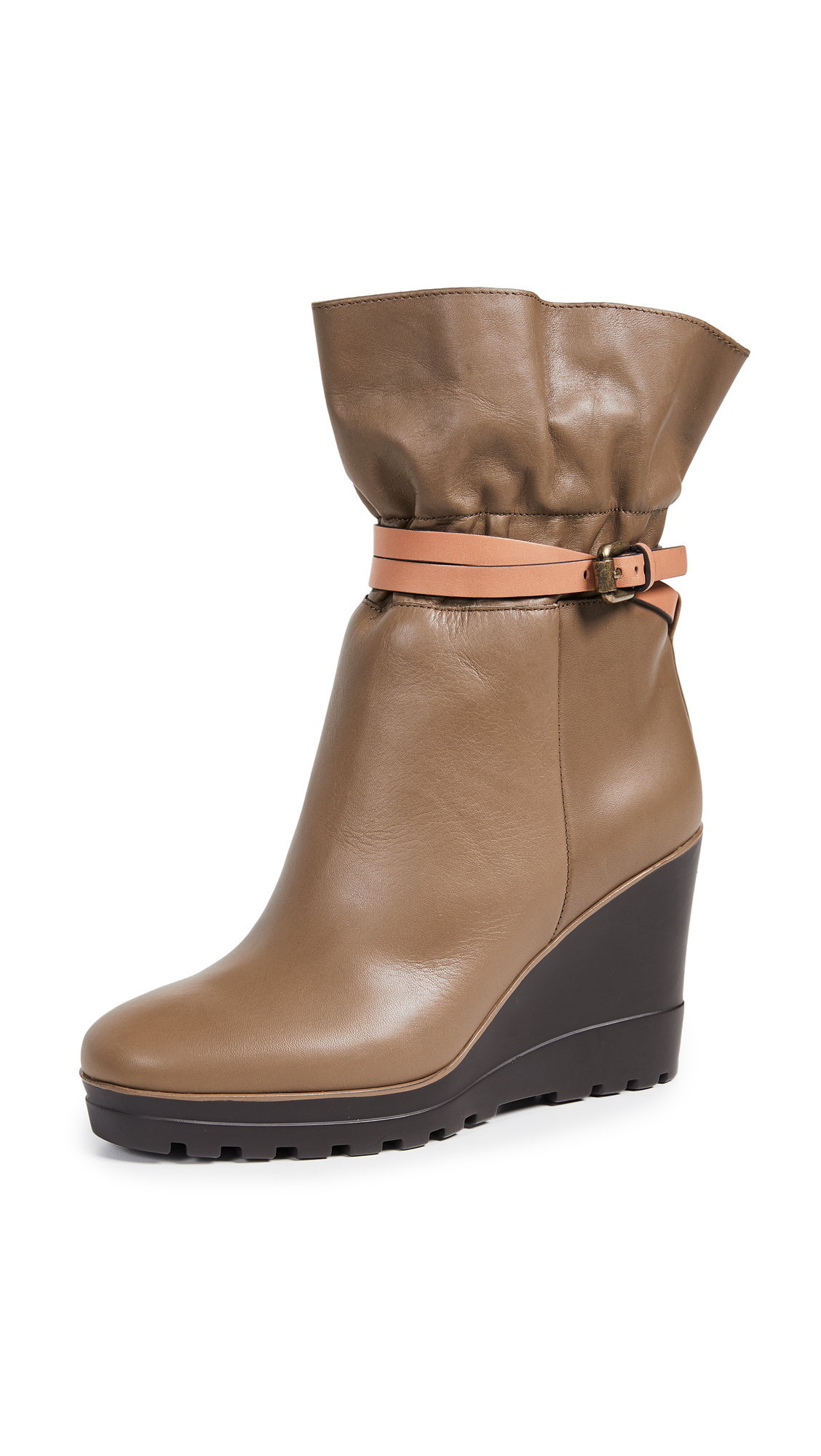 See by Chloe Robin Boots - Khaki/Natural