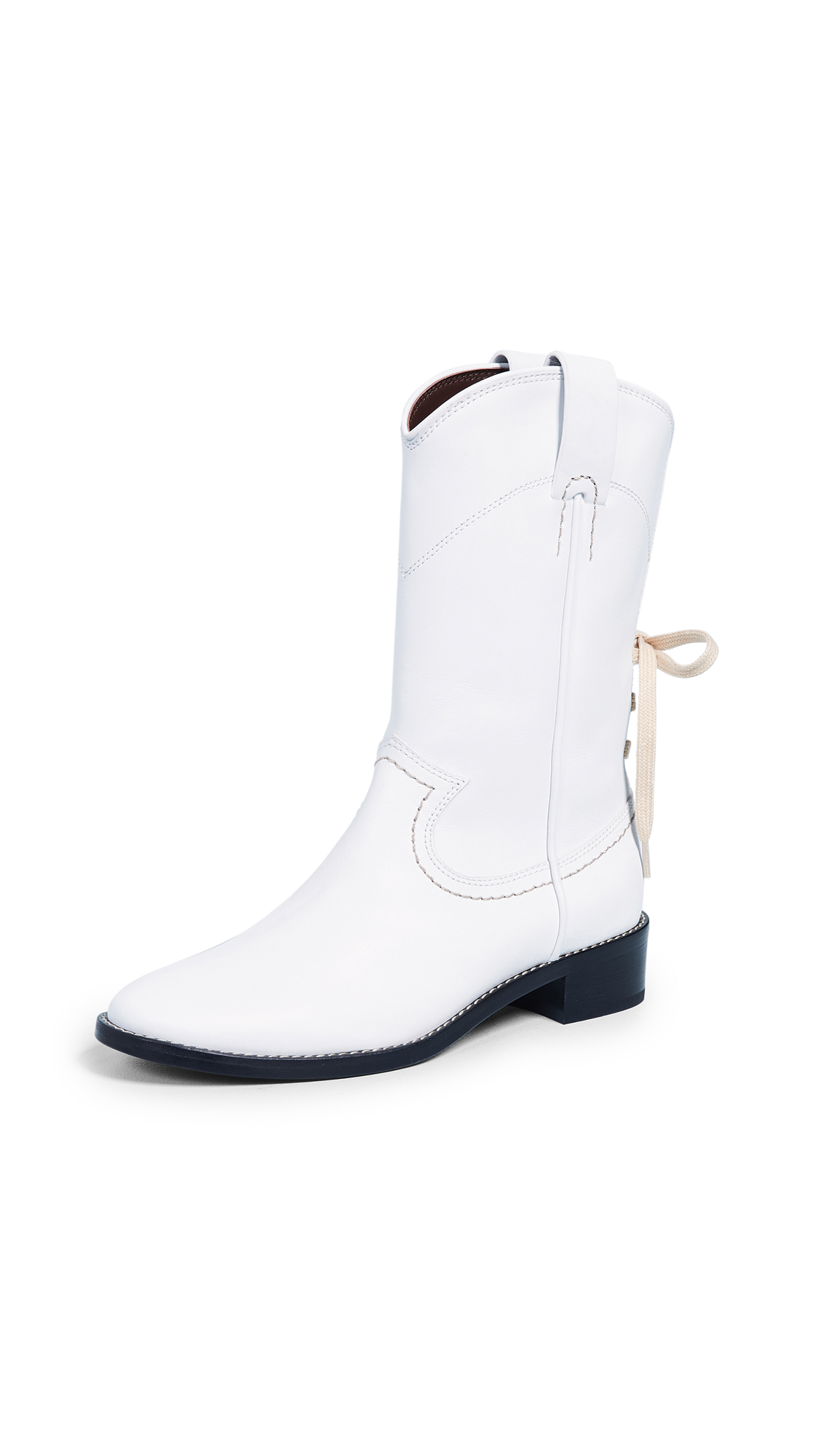See by Chloe Annika Western Boots - Gesso