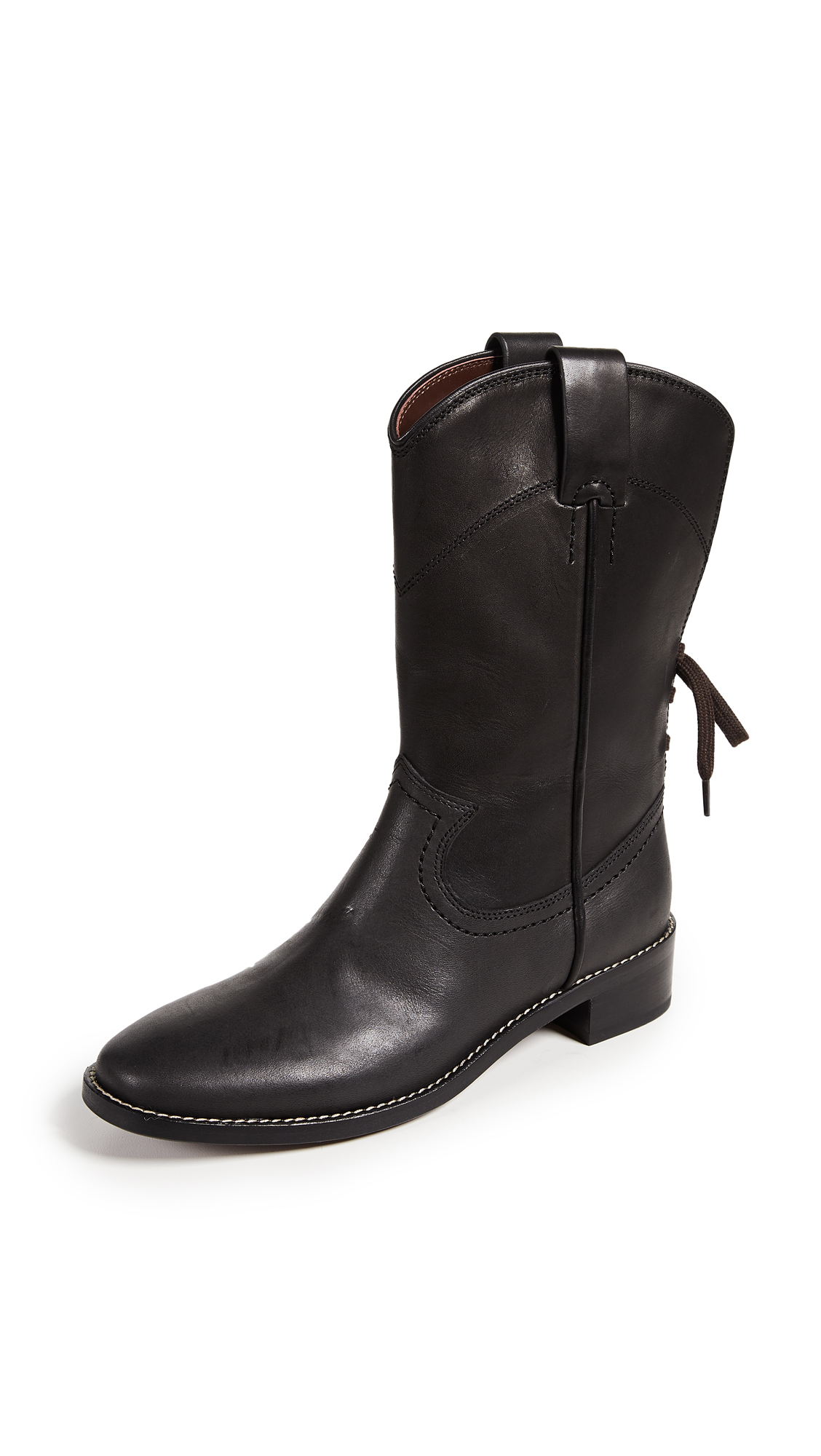 See by Chloe Annika Western Boots - Nero