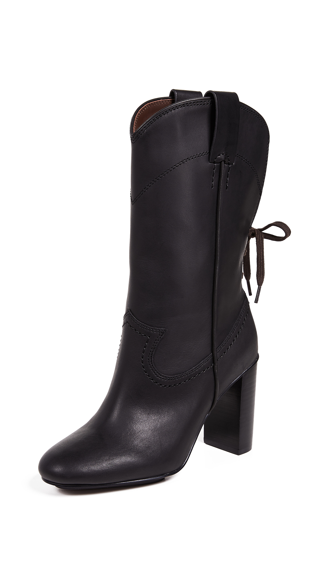 See by Chloe Annika High Heel Western Boots - Black