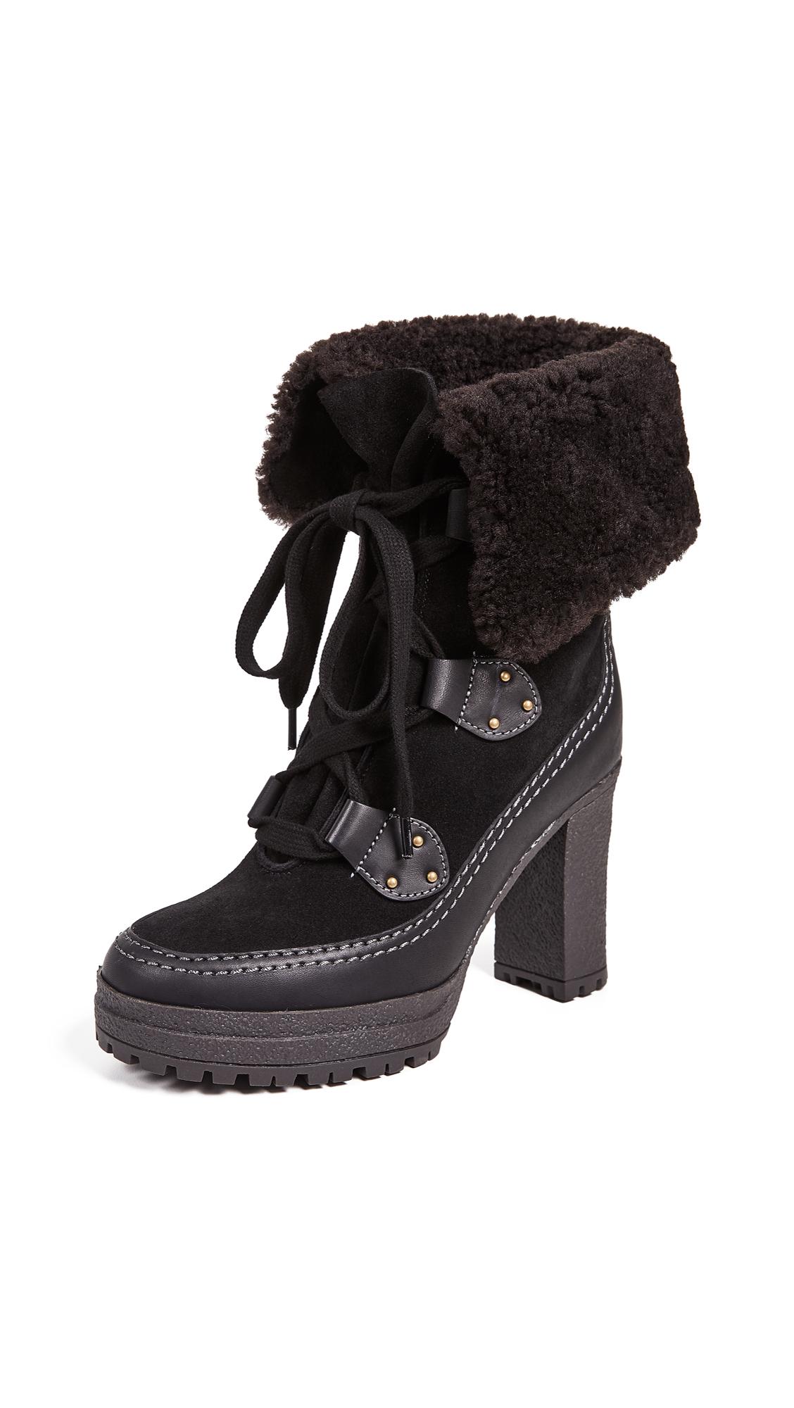 See by Chloe Verena Platform Boots - Black