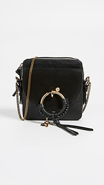 See By Chloe Joan Small Leather & Suede Crossbody in Black