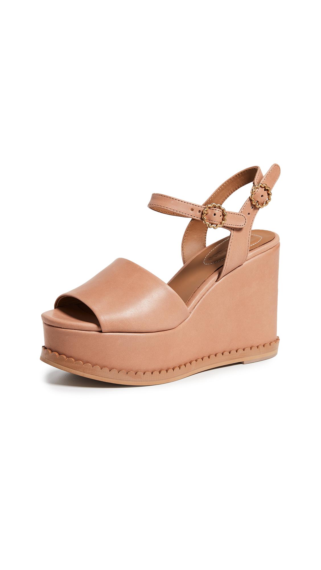 See by Chloe Carrie Super Wedge Sandals - Sierra