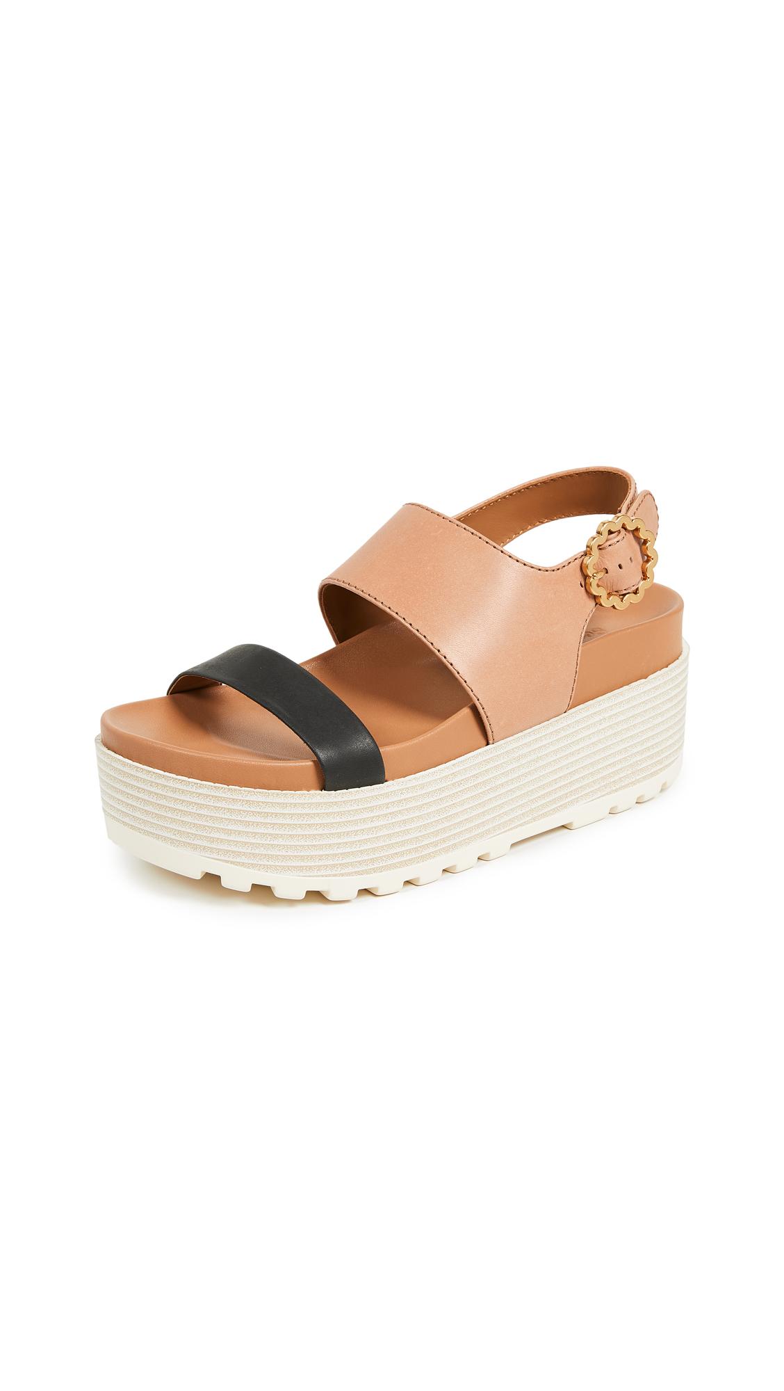 See by Chloe Jenna Platform Sandals - Natural/Nero