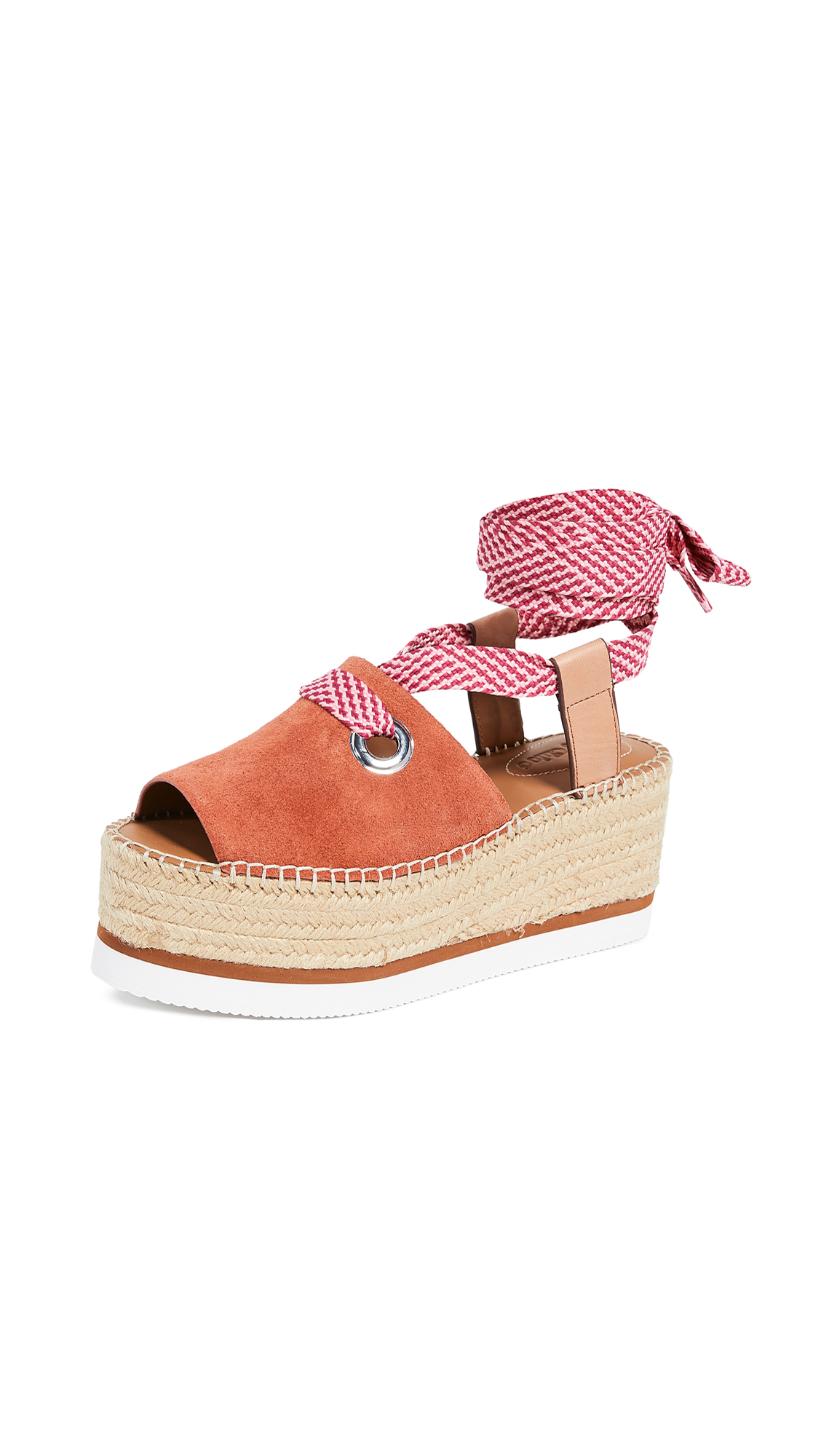 See by Chloe Glyn Amber Lace Up Espadrilles - Phard