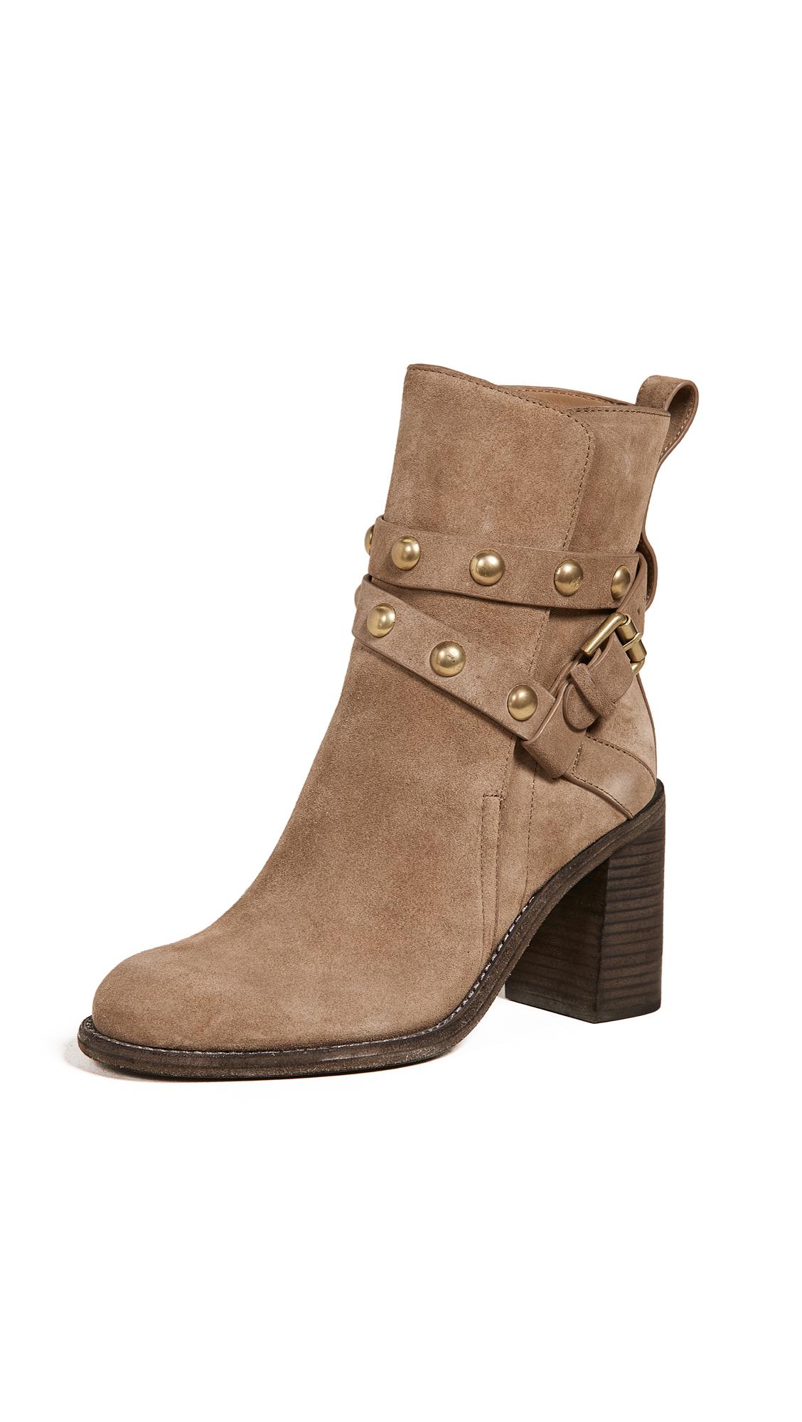 Janis High Heel Boots, Dark Beige