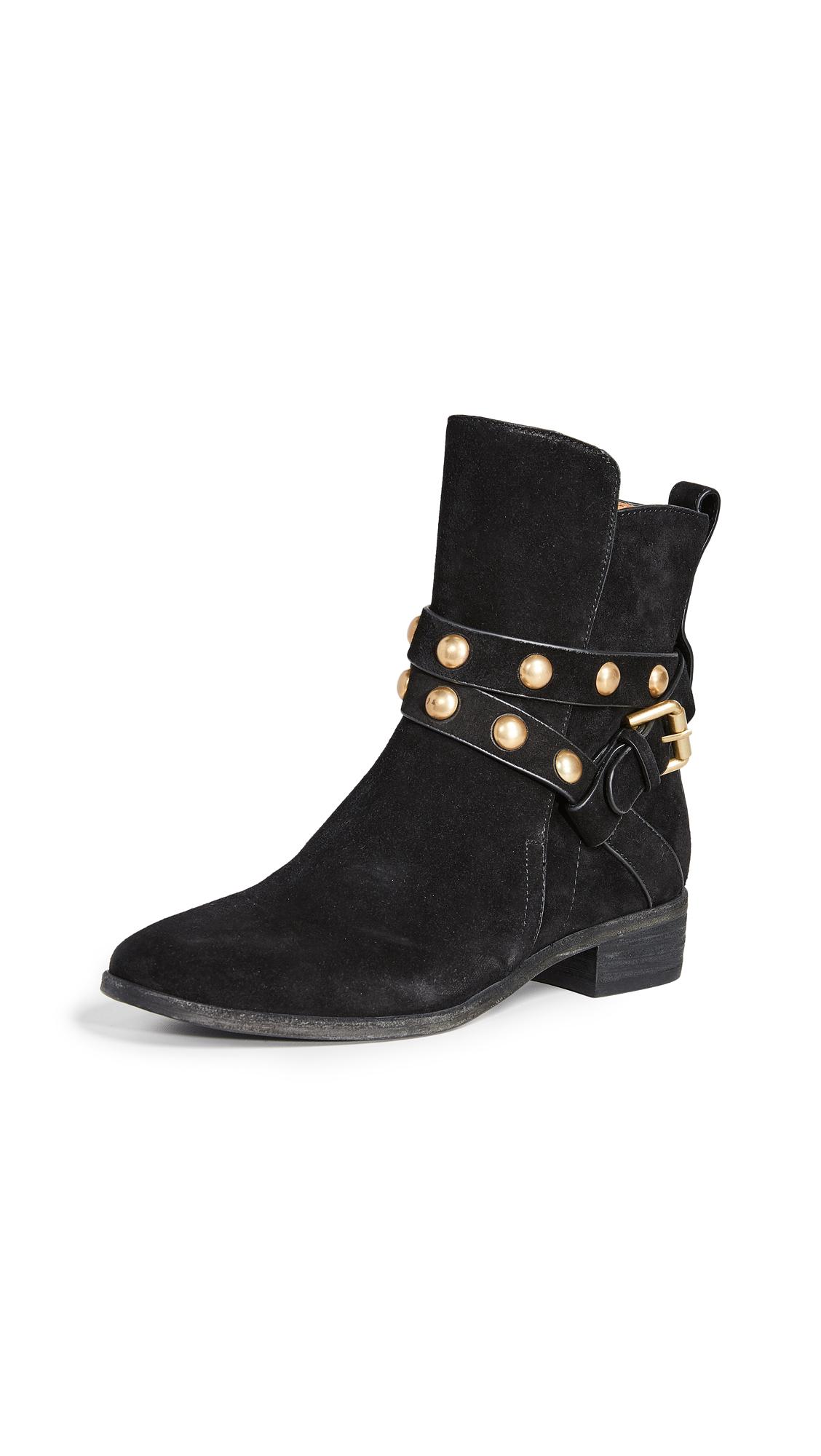 Janis Low Heel Booties, Nero