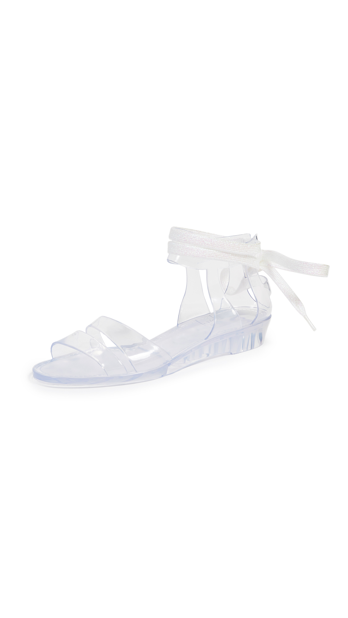 See by Chloe Amy Lace Up Jelly Sandals - Transparent