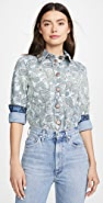 See by Chloe Paisley Print Denim Jacket / Shirt