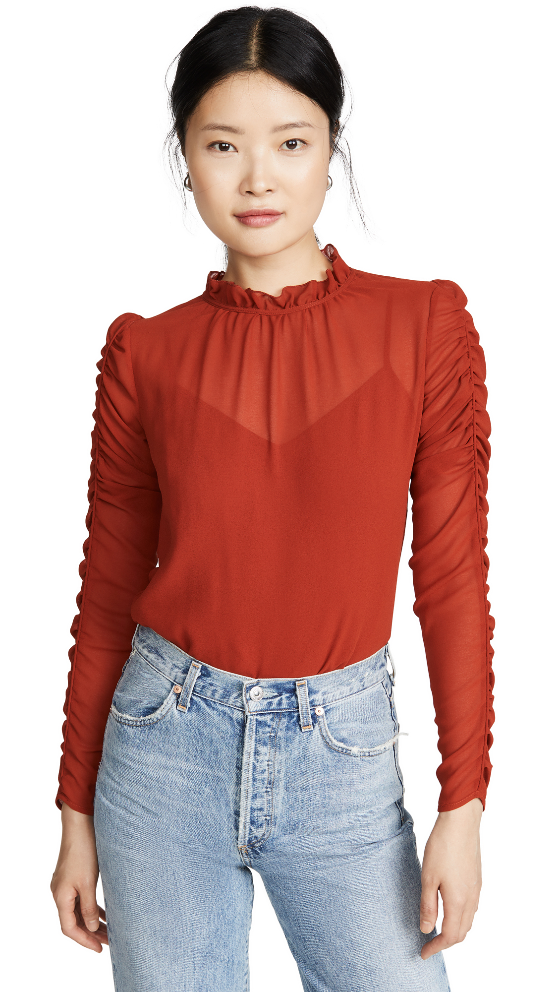 Buy See by Chloe online - photo of See by Chloe Ruffle Neck Blouse