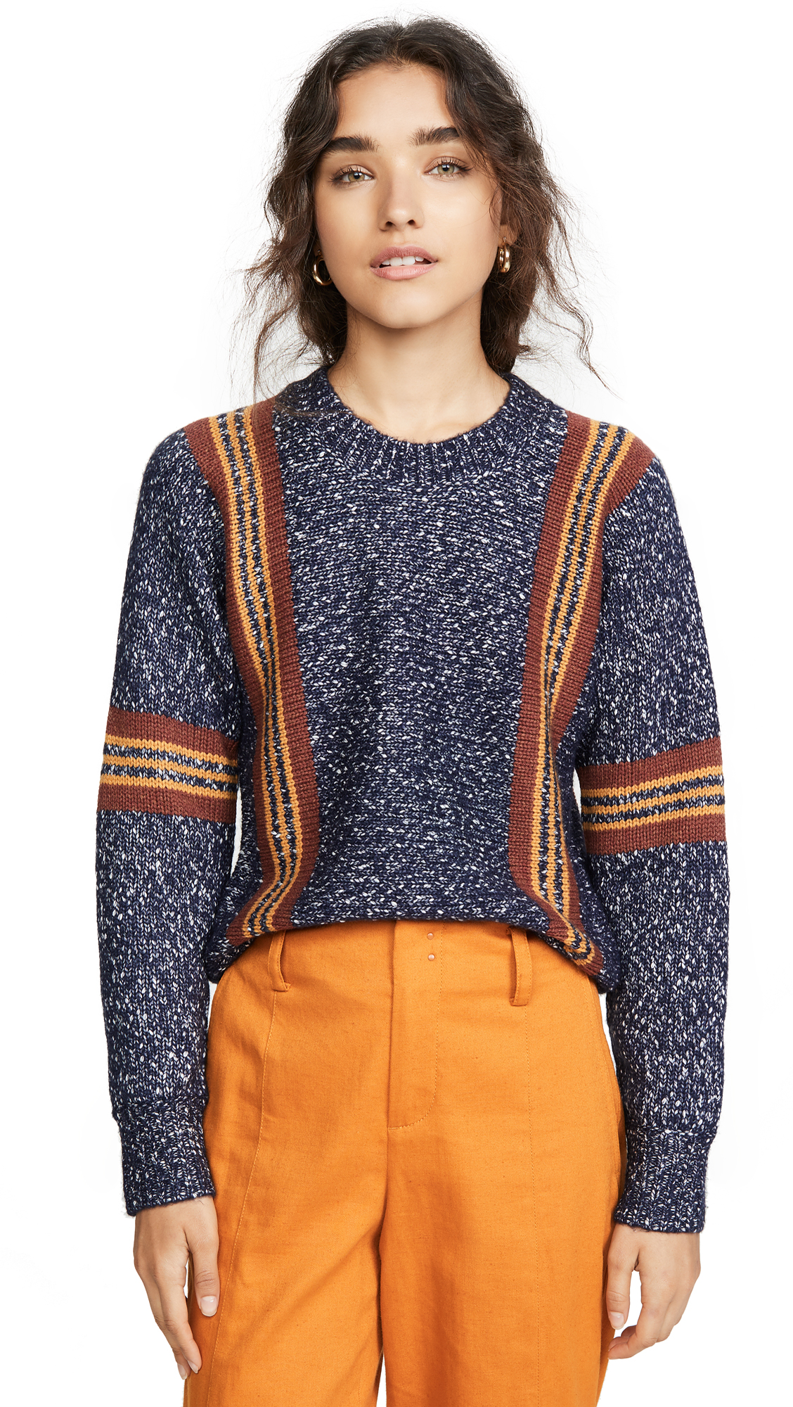 Buy See by Chloe online - photo of See by Chloe Striped Pullover