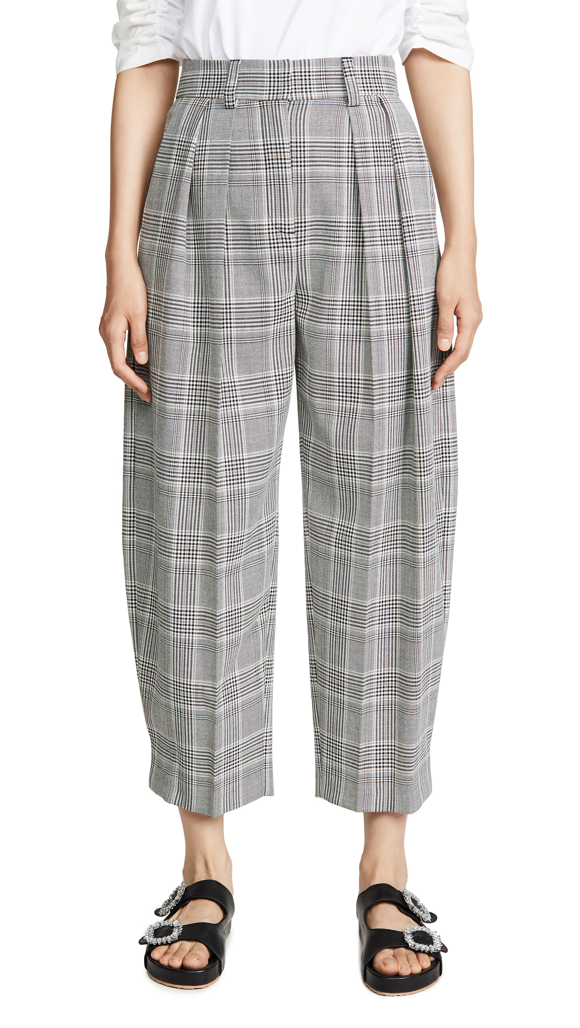 Buy See by Chloe online - photo of See by Chloe Plaid Trousers