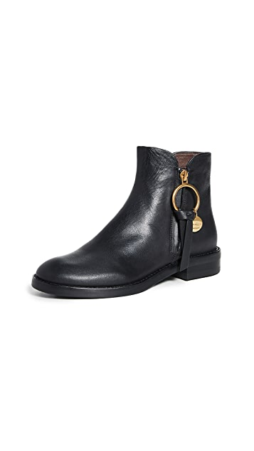 Photo of  See by Chloe Louise Flat Boots- shop See by Chloe Booties, Heeled online sales