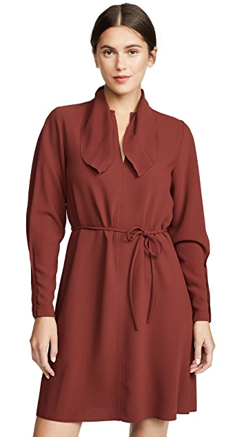 See by Chloe Tie Neck Long Sleeve Dress