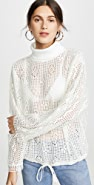 See by Chloe Turtleneck Lace Top