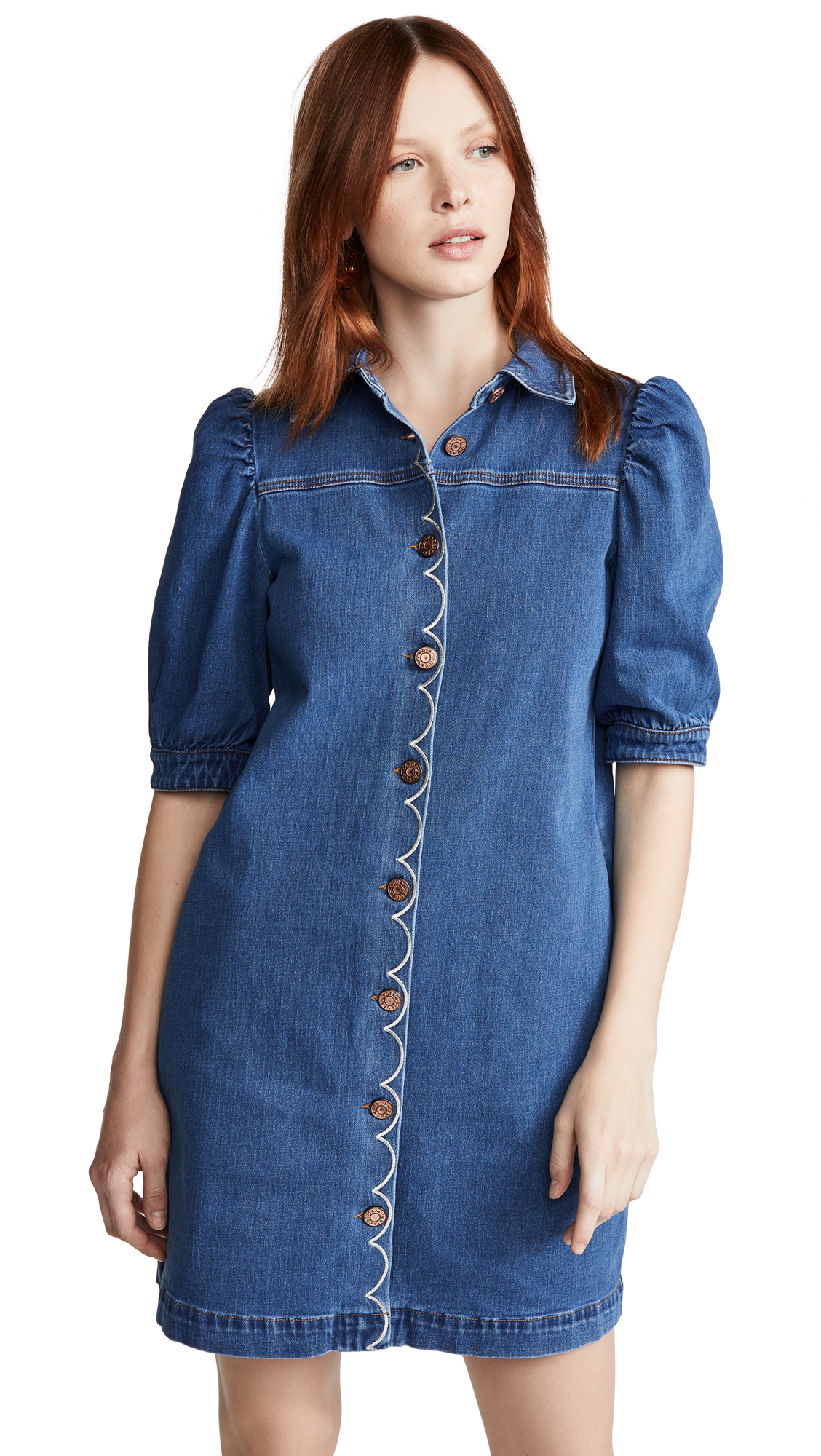 Buy See by Chloe Button Front Denim Dress online beautiful See by Chloe Clothing, Dresses