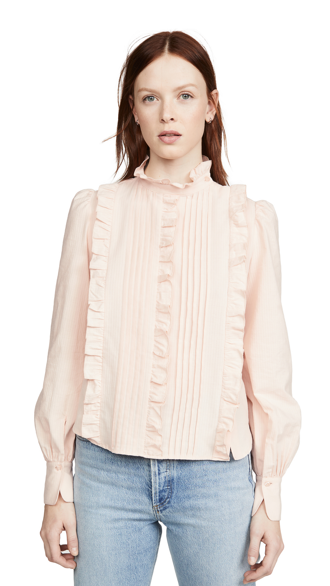 Buy See by Chloe online - photo of See by Chloe Ruffle Front Blouse