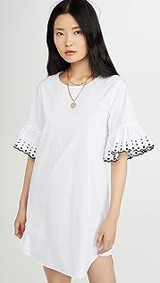 See by Chloe Платье-футболка с оборками