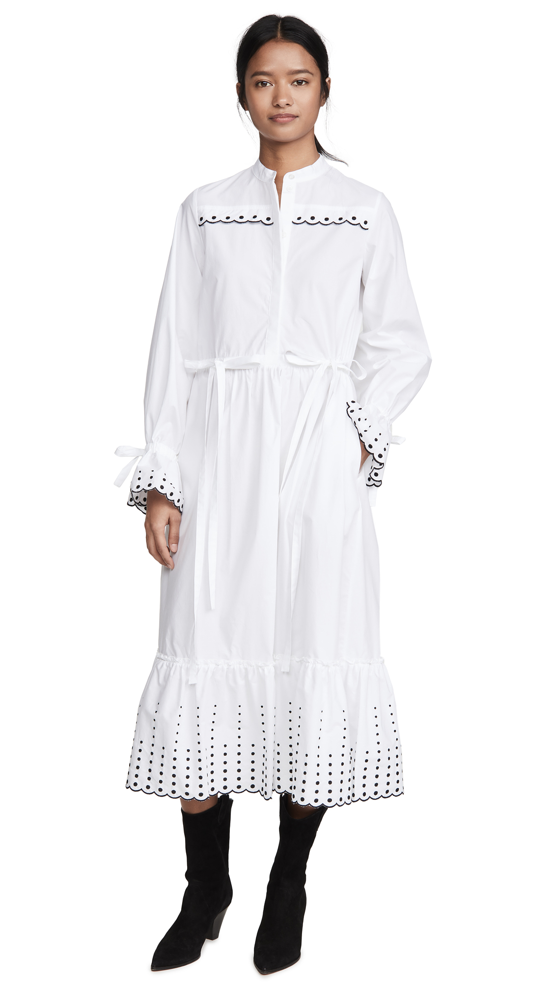 Buy See by Chloe online - photo of See by Chloe Shirt Dress with Embroidery