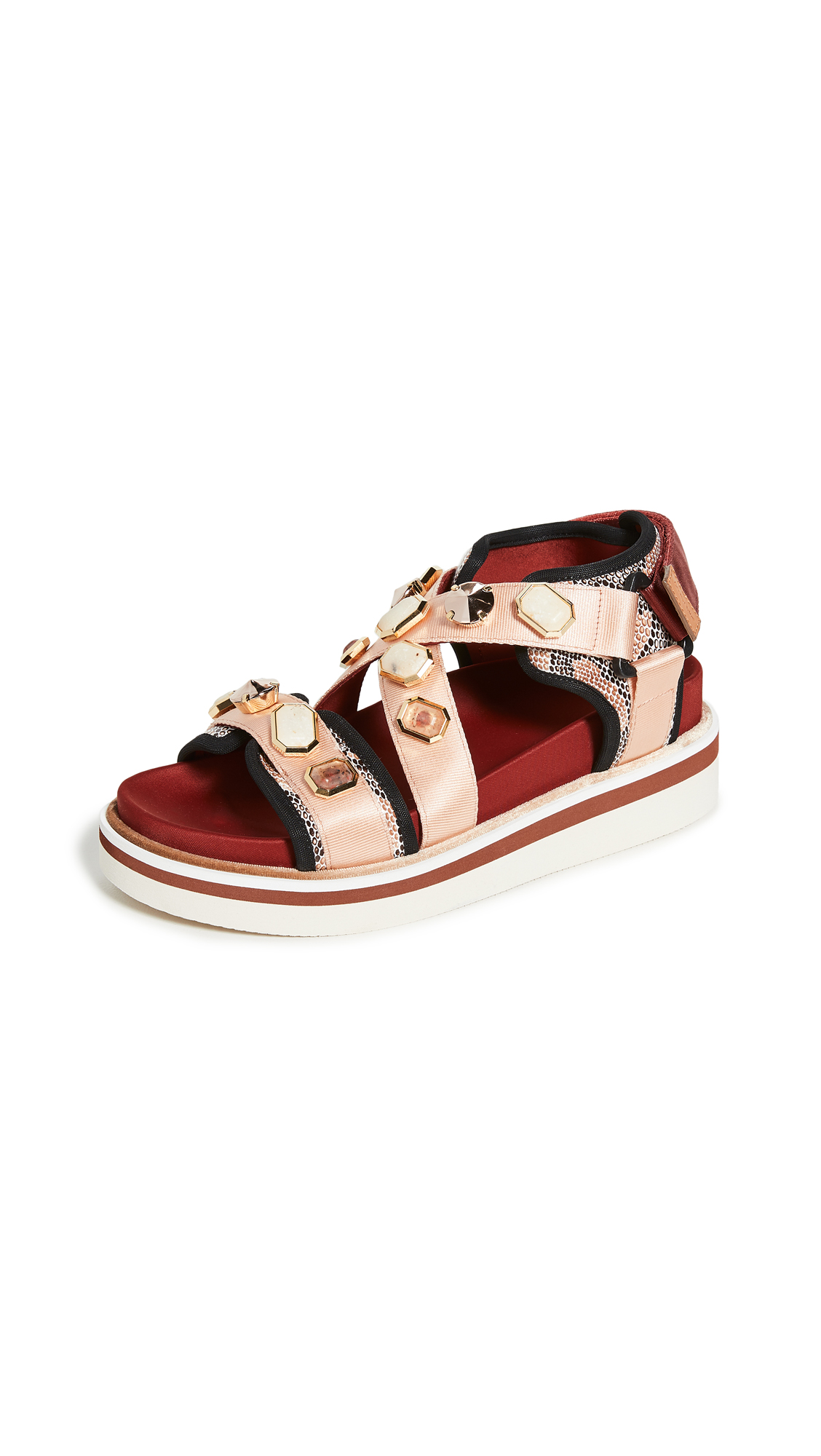 Buy See by Chloe online - photo of See by Chloe Embellished Yumi Sandals