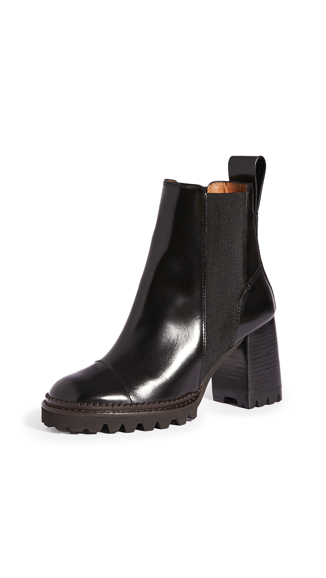 See By Chloé CHELS MALL LUG SOLE BOOTS