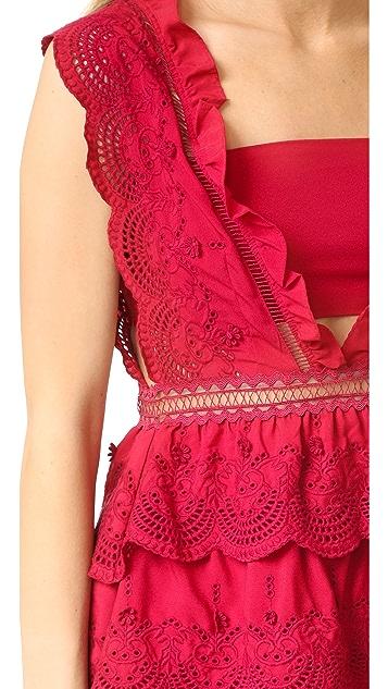 Self Portrait Three Tiered Dress