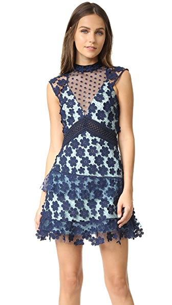 Self Portrait Overlay Mini Dress