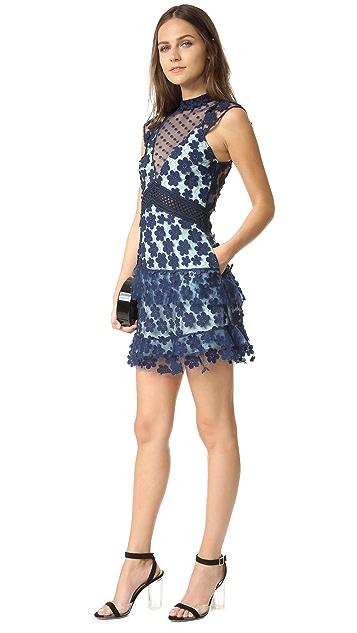 Self Portrait Overlay Mini Dress